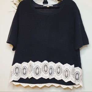 Lauren Conrad navy sweater
